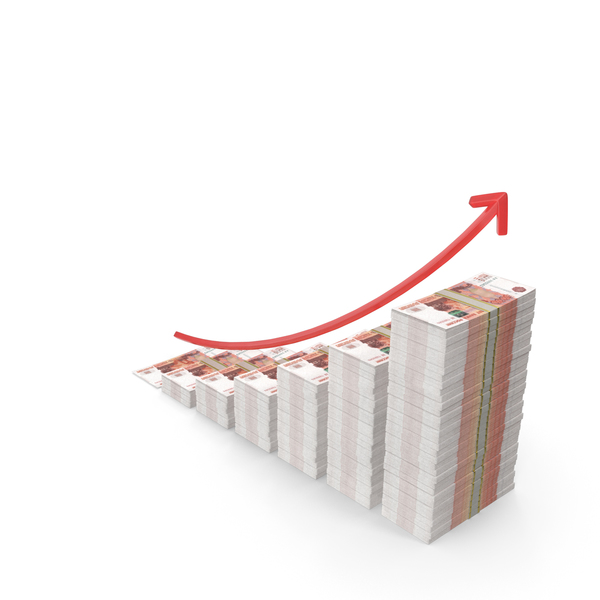 Banknote: Russian Ruble Income Graph PNG & PSD Images
