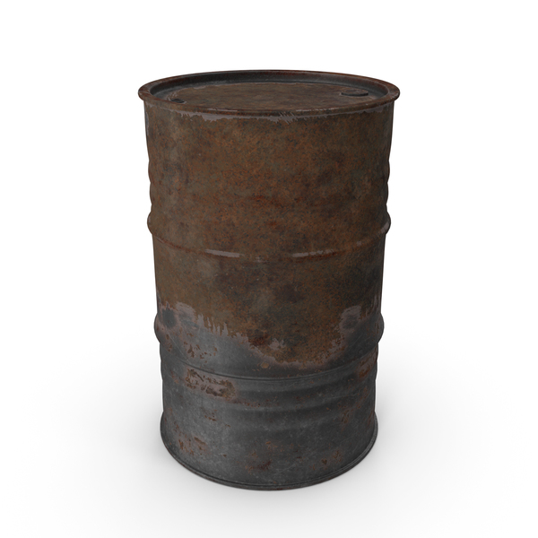 Drum: Rusted Oil Barrel PNG & PSD Images