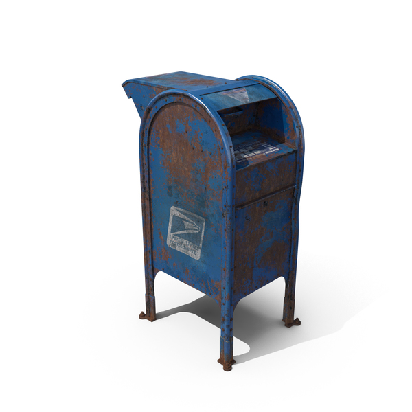 Rusted US Mailbox PNG & PSD Images