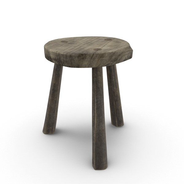 Rustic Stool Object