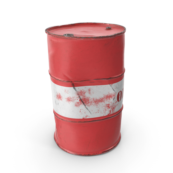 Steel: Rusty Crude Oil Barrel PNG & PSD Images