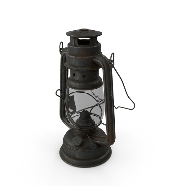 Hurricane Lantern: Rusty Oil Lamp PNG & PSD Images