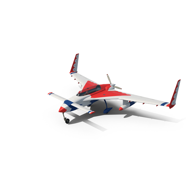 Aircraft: Rutan Long-EZ Thunderbirds Paint Scheme PNG & PSD Images