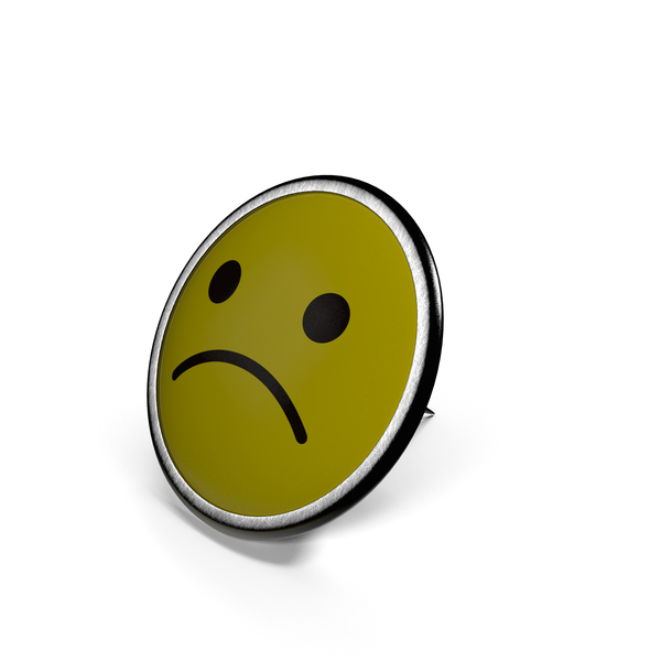 Sad Smiley Pin PNG & PSD Images