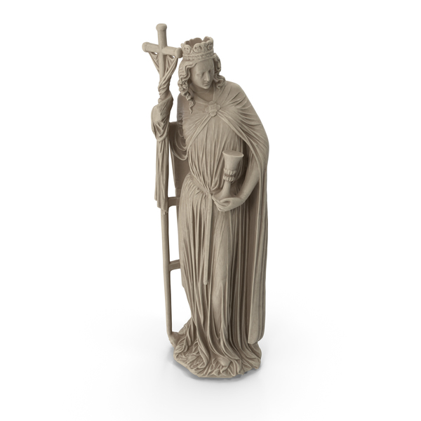 Saint With a Cross Statue PNG & PSD Images