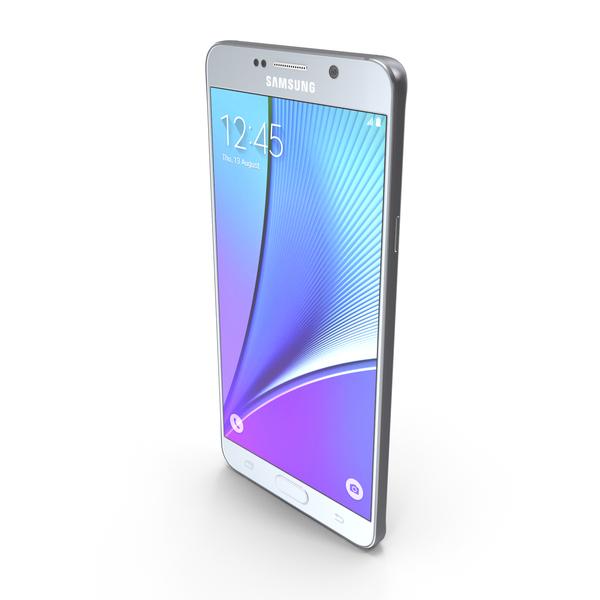 Samasung Galaxy Note5 Silver Titanium PNG & PSD Images