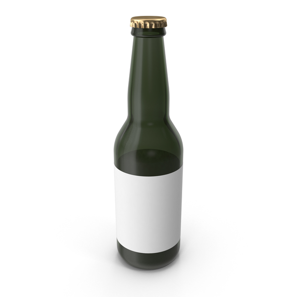 Sample Green Glass Bottle of Beer PNG & PSD Images