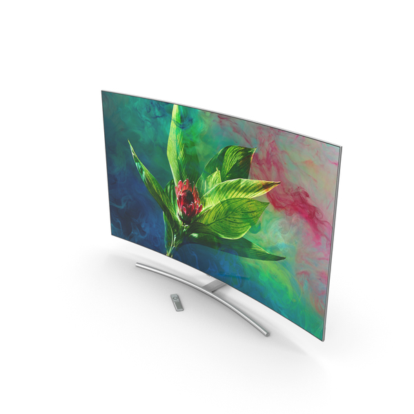 Samsung 65 inch 4K Curved Smart QLED TV PNG & PSD Images