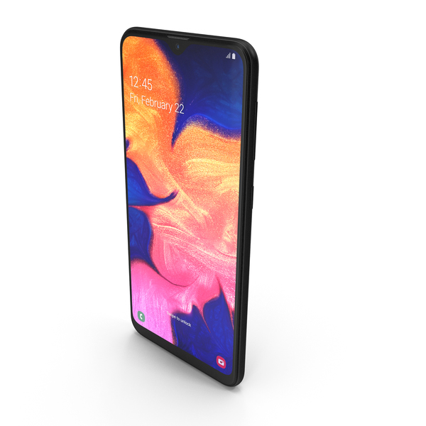 Smartphone: Samsung Galaxy A10 Black PNG & PSD Images