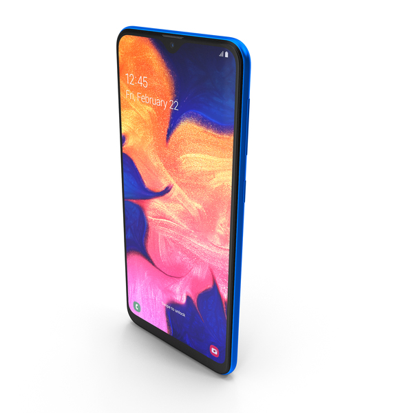 Samsung Galaxy A10 Blue PNG & PSD Images