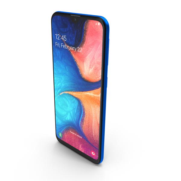 Samsung Galaxy A20e Blue PNG & PSD Images