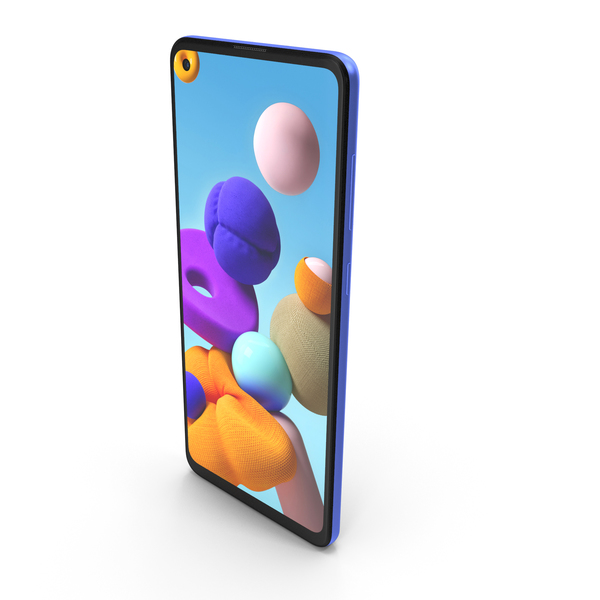 Samsung Galaxy A21s Blue PNG & PSD Images