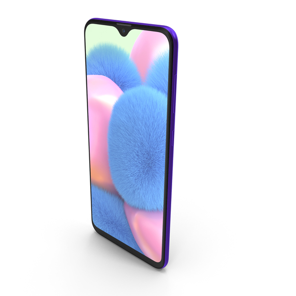 Samsung Galaxy A30s Prism Crush Violet PNG & PSD Images