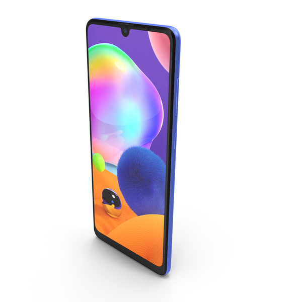 Samsung Galaxy A31 Blue PNG & PSD Images