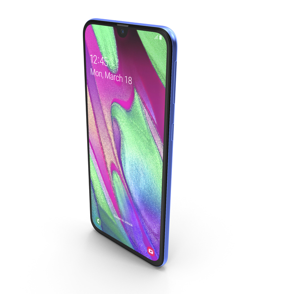 Smartphone: Samsung Galaxy A40 Blue PNG & PSD Images