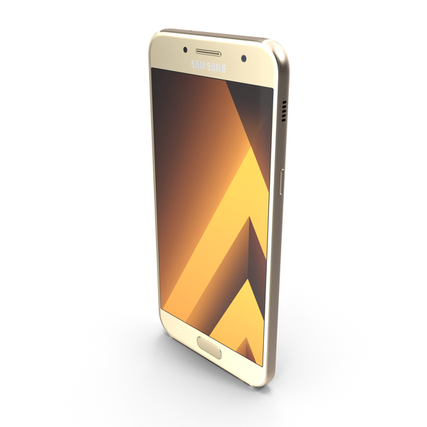 Smartphone: Samsung Galaxy A5 2017 Gold Sand PNG & PSD Images