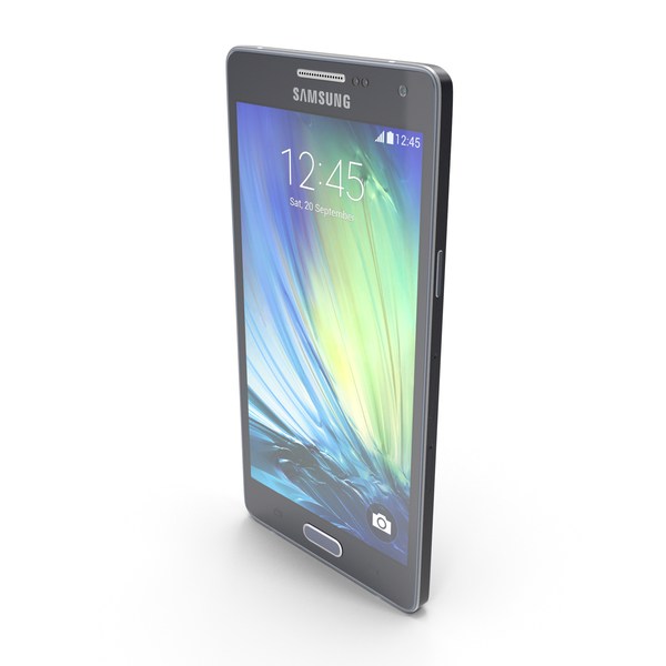 Samsung Galaxy A5 and A5 Duos Black PNG & PSD Images