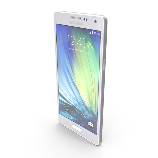 Samsung Galaxy A5 and A5 Duos Silver PNG & PSD Images