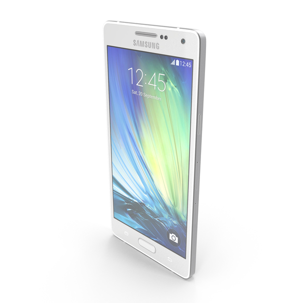 Smartphone: Samsung Galaxy A5 and A5 Duos White PNG & PSD Images