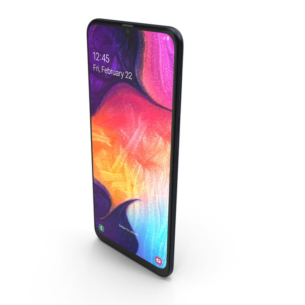 Smartphone: Samsung Galaxy A50 Black PNG & PSD Images