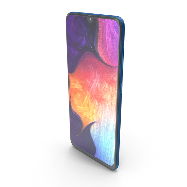 Samsung Galaxy A50 Blue PNG & PSD Images