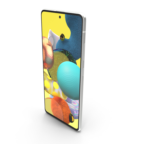 Samsung Galaxy A51 5G White PNG & PSD Images