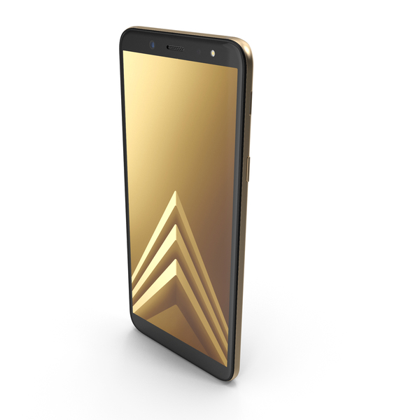Smartphone: Samsung Galaxy A6 2018 Gold PNG & PSD Images