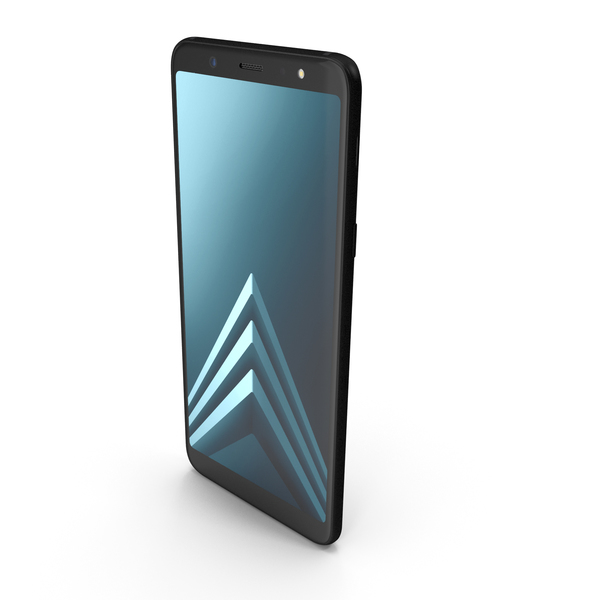 Samsung Galaxy A6 Plus 2018 Black PNG & PSD Images