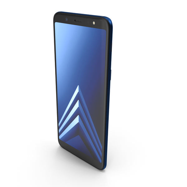 Samsung Galaxy A6 Plus 2018 Blue PNG & PSD Images