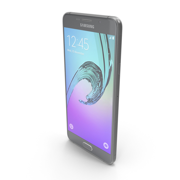 Samsung Galaxy A7 2016 Black PNG & PSD Images