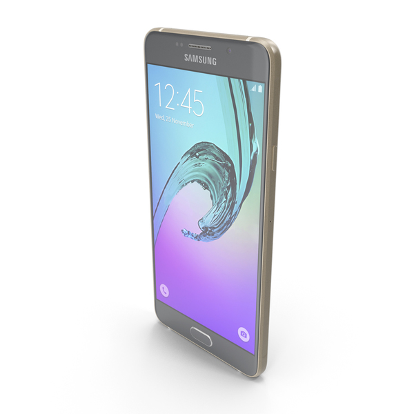 Samsung Galaxy A7 2016 Gold PNG & PSD Images