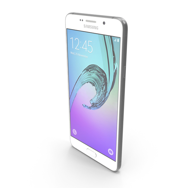 Samsung Galaxy A7 2016 White PNG & PSD Images