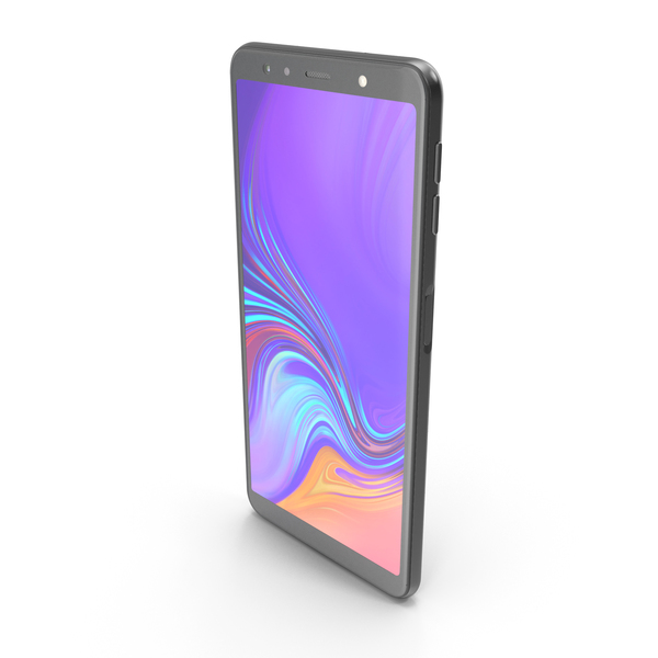 Samsung Galaxy A7 (2018) Black PNG & PSD Images