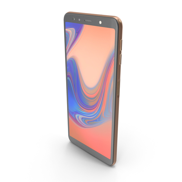 Samsung Galaxy A7 (2018) Gold PNG & PSD Images