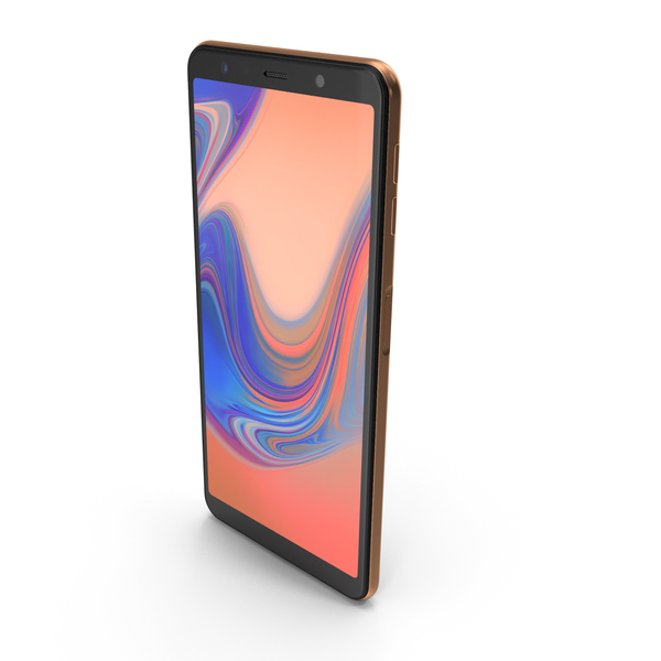 Samsung Galaxy A7 2018 Gold PNG & PSD Images