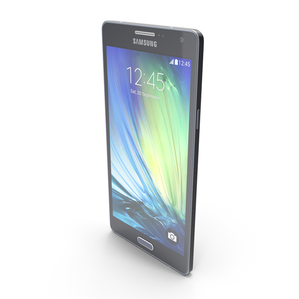 Smartphone: Samsung Galaxy A7 Midnight Black PNG & PSD Images