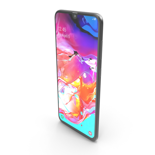 Smartphone: Samsung Galaxy A70 Black PNG & PSD Images