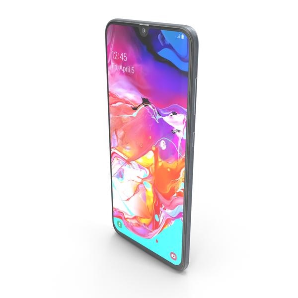 Smartphone: Samsung Galaxy A70 White PNG & PSD Images