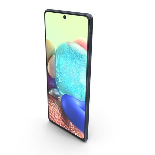 Samsung Galaxy A71 5G Black MAX2014 PNG & PSD Images