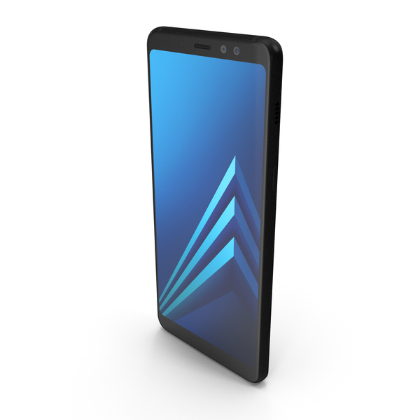 Samsung Galaxy A8 2018 Black PNG & PSD Images