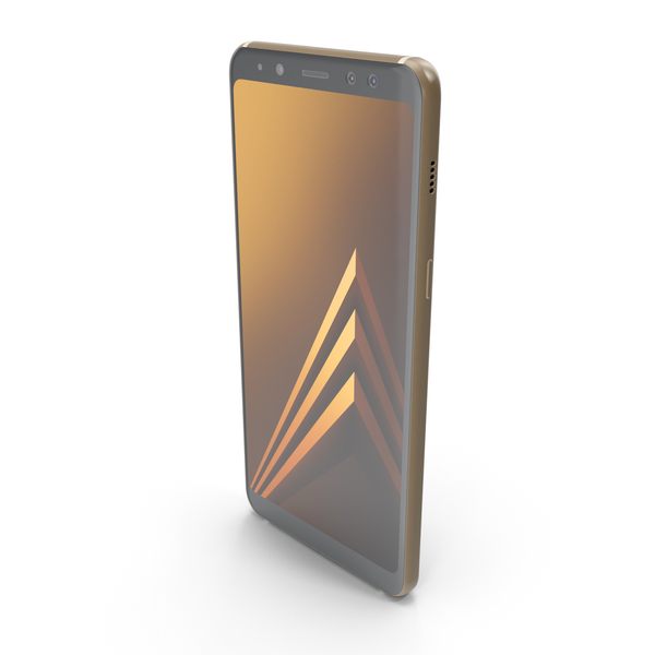 Smartphone: Samsung Galaxy A8 (2018) Gold PNG & PSD Images