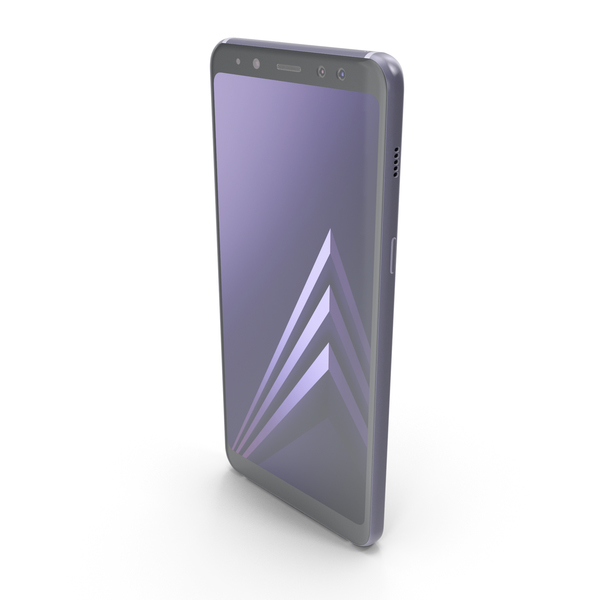 Smartphone: Samsung Galaxy A8 (2018) Orchid Grey PNG & PSD Images