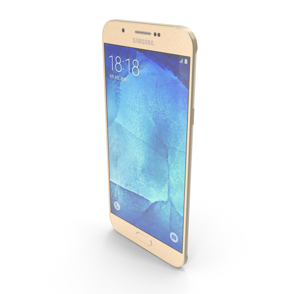 Samsung Galaxy A8 or A8 Duos Champagne Gold PNG & PSD Images