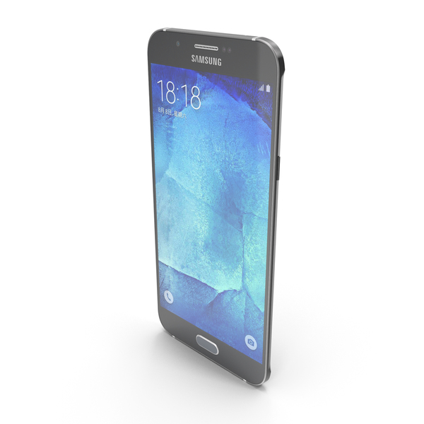 Samsung Galaxy A8 or A8 Duos Midnight Black PNG & PSD Images