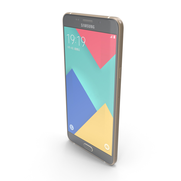 Smartphone: Samsung Galaxy A9 2016 Champagne Gold PNG & PSD Images