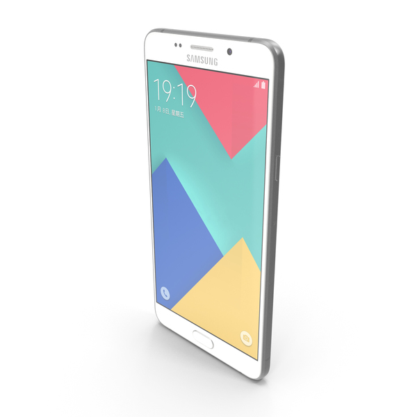 Smartphone: Samsung Galaxy A9 2016 Pearl White PNG & PSD Images