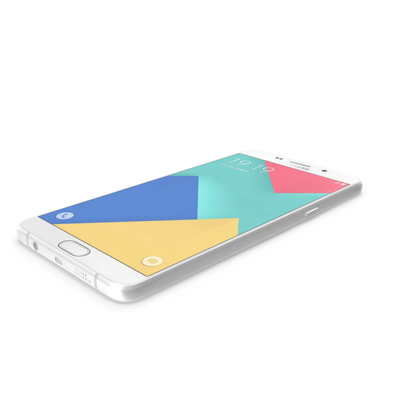 Smartphone: Samsung Galaxy A9 (2016) Pearl White PNG & PSD Images