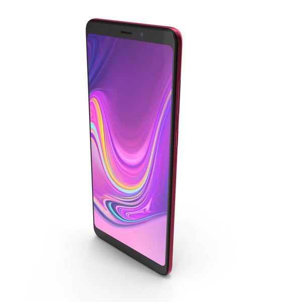 Samsung Galaxy A9 (2018) Bubblegum Pink PNG & PSD Images