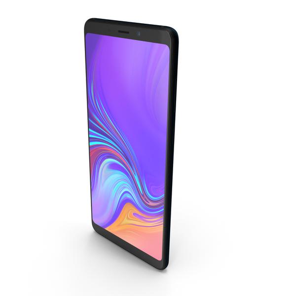 Samsung Galaxy A9 (2018) Caviar Black PNG & PSD Images