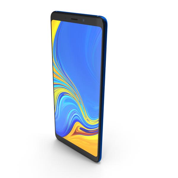 Samsung Galaxy A9 (2018) Lemonade Blue PNG & PSD Images